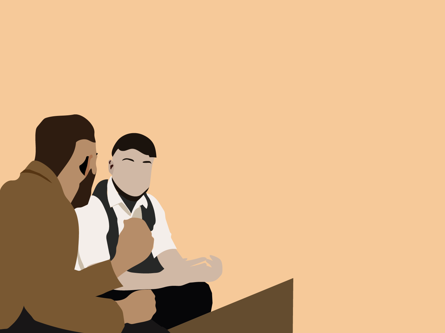 Moodboard Illustration of two men